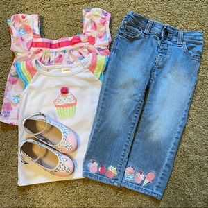 Chasing Fireflies Gymboree Cupcake Outfit & Shoes